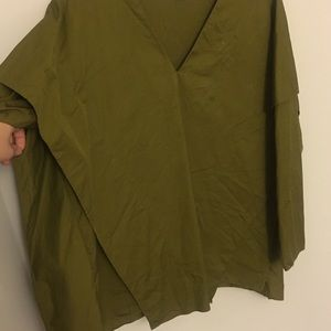 Cos olive green V-neck Top